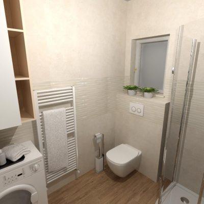 3D vizualizácia kúpeľne, návrh a dizajn kúpeľne, architektúra kúpeľne
