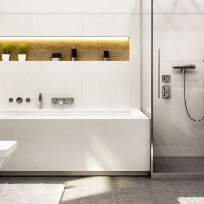 Vane, sprchové kúty a vaničky, podlahové žľaby Huppe